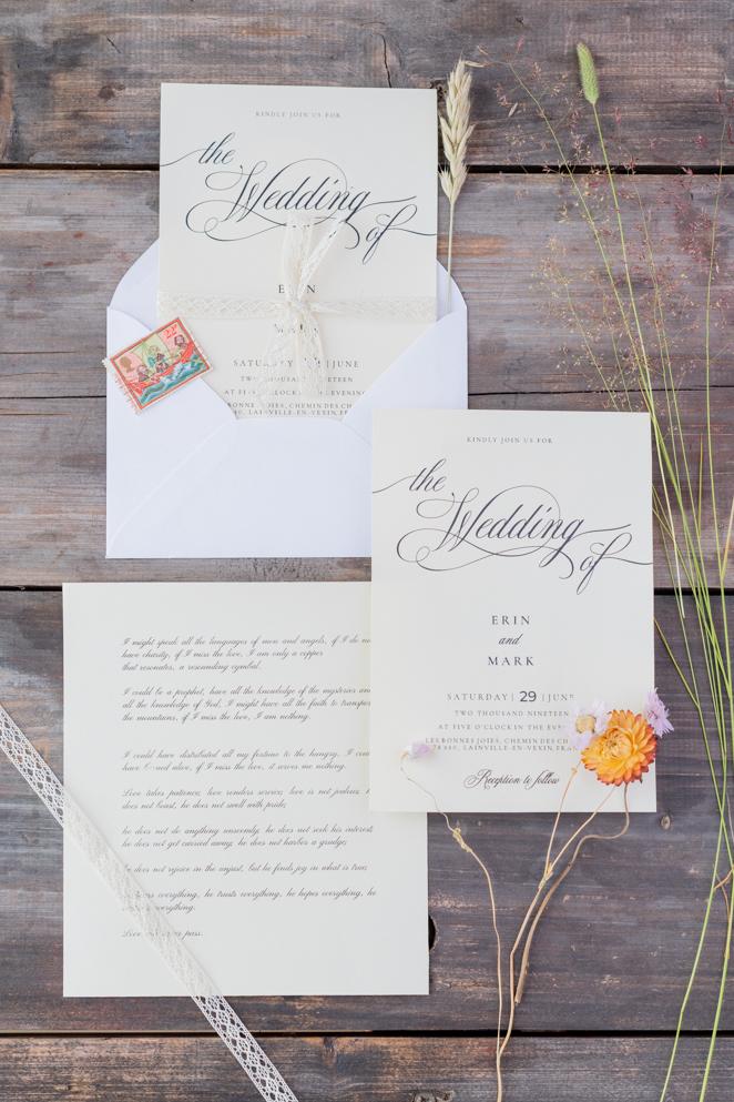 Papeterie invitation mariage