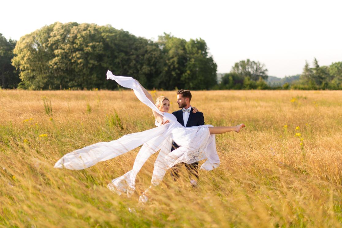 Mariage champêtre Les bonnes joies